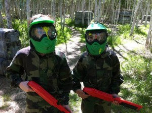 quint paintball enfant foret